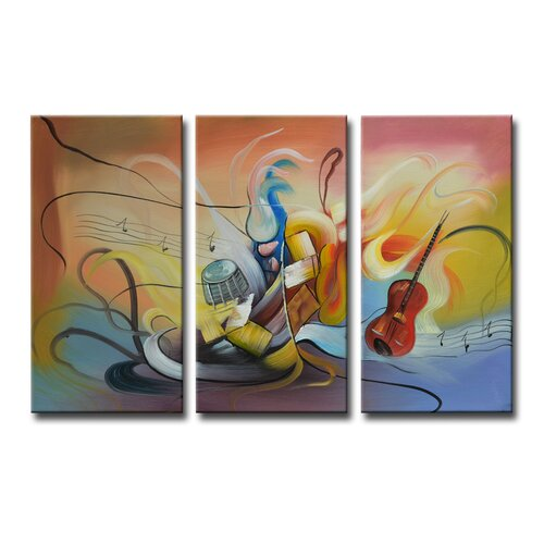 Segma Inc. Radiance Neva 3 Piece Original Painting on Canvas Set