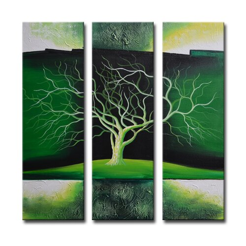 Segma Inc. Radiance Nolana 3 Piece Original Painting on Canvas Set