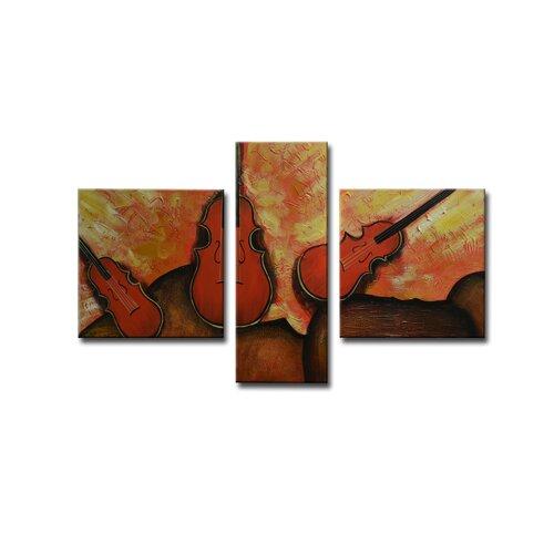 Radiance Derica 3 Piece Original Painting on Canvas Set (Set of 3)