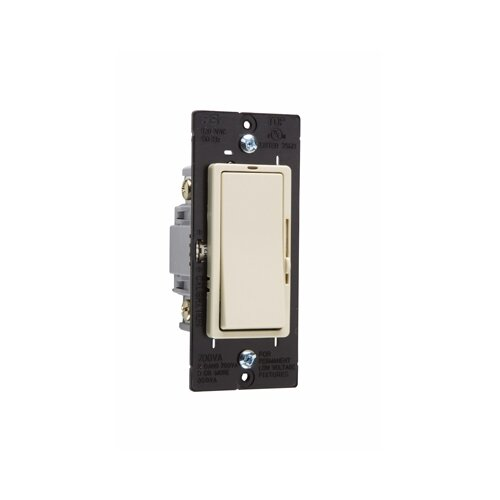 Legrand Harmony 700VA Decorator Magnetic Low Voltage Single Pole/Three Way Dimmer in Ivory