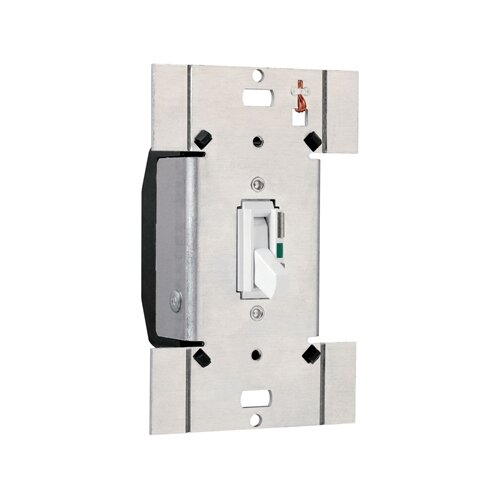 Legrand TradeMaster 1000W Electronic Single Pole/Three Way Preset Toggle Dimmer in Light Almond