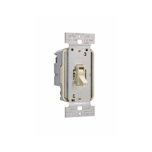 Legrand TradeMaster 600W Magnetic Single Pole Toggle Dimmer in White