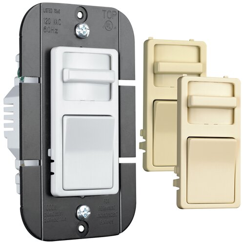 Legrand TradeMaster Decorator Single Pole Slide Dimmer with Interchangeable Faces