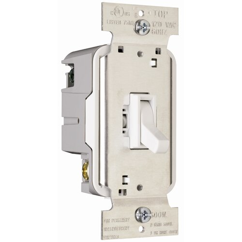 Legrand TradeMaster 600W Single Pole Toggle Dimmer in White