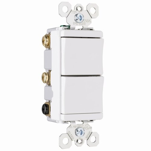 Legrand TradeMaster 15A 120V Decorator One Single Pole and One Three Way Switch in White