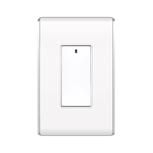 Legrand Decorator Radio Frequency Three Way Wall Switch in White