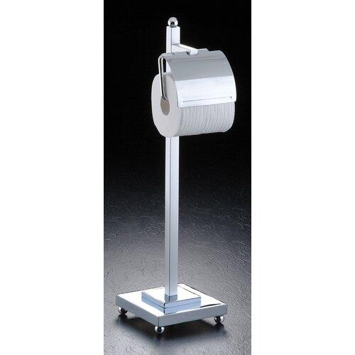 Taymor freestanding tiara toilet paper holder combo reviews wayfair - Toilet paper holder floor stand ...