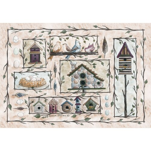 Custom Printed Rugs Home Accents Bird Houses Novelty Rug