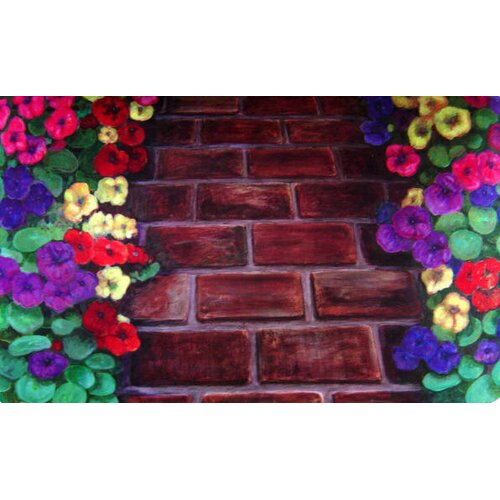 Custom Printed Rugs Brick Path Doormat