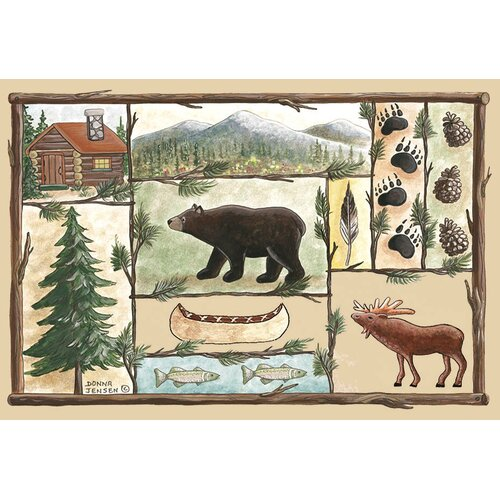 Custom Printed Rugs Home Accents Cabin Novelty Rug