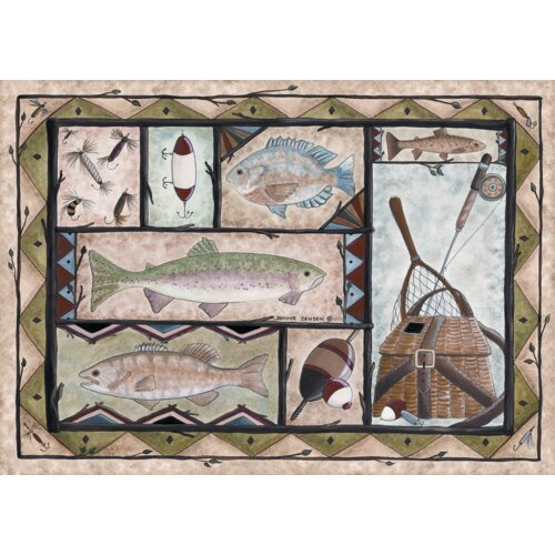 Custom Printed Rugs Wildlife Fishing Novelty Rug