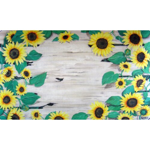 Custom Printed Rugs Sunflower Doormat