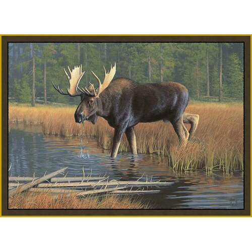 Custom Printed Rugs Wildlife Moose Novelty Rug