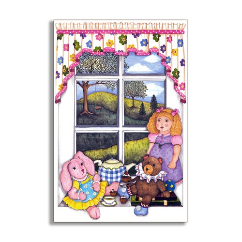 Little Girls Painting Print Plaque