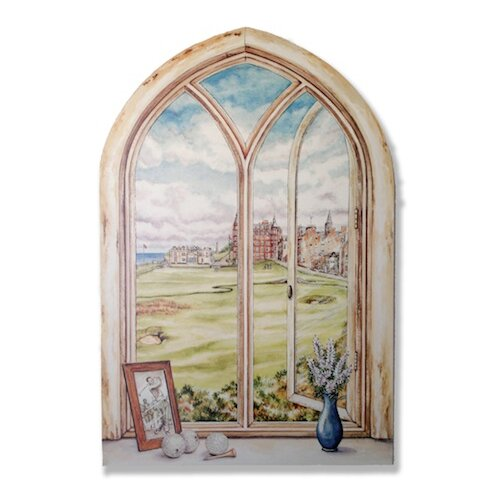 St. Andrew's Gold Course Painting Print Plaque