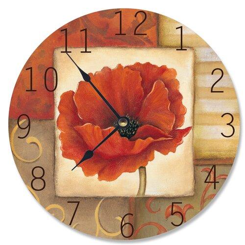 Infinity Instruments 24 Quot Le Jardin Poppy Wall Clock