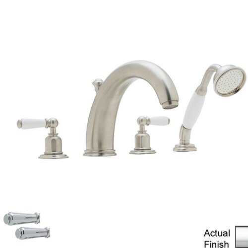 Essence Single Handle Deck Mount Roman Tub Filler Trim