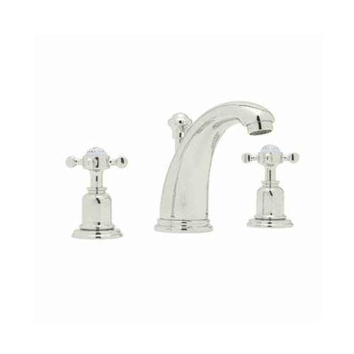 3-Hole High Arc Spout Widespread Lavatory Faucet