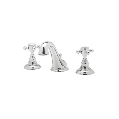 Rohl A1408LC-2 Country Bath Low Lead Widespread Bathroom Faucet with Pop-Up Drain and Swarovski ...