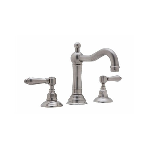 Rohl Rohl A1409LC-2 Country Bath Low Lead Widespread with Swarovski Crystal Lever Handles and Pop-Up Drain