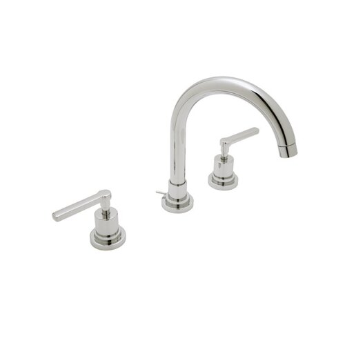 Rohl A2208LM-2 Lombardia Low Lead Widespread Bathroom Faucet with Metal Lever Handles and ...