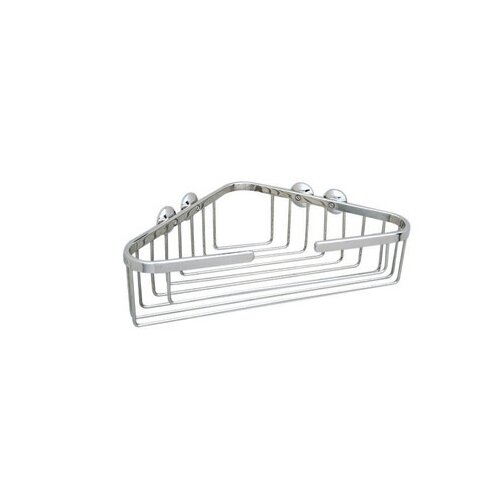 Rohl Wall Mounted Large Corner Basket in Polished Nickel