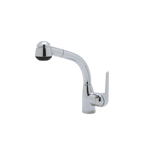 Pullout One Handle Single Hole Side Metal Lever De Lux Kitchen Faucet