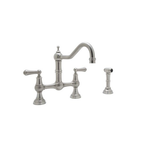 Perrin and Rowe Two Handle Widespread Bridge Faucet with 9