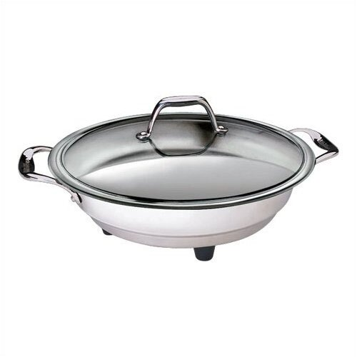 "CucinaPro 12"" Classic Electric Skillet with Lid"