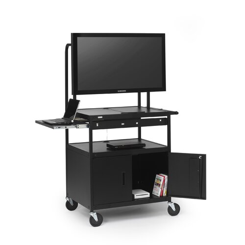 Bretford Manufacturing Inc Cab Cart with Laptop Shelf for Flat Panels