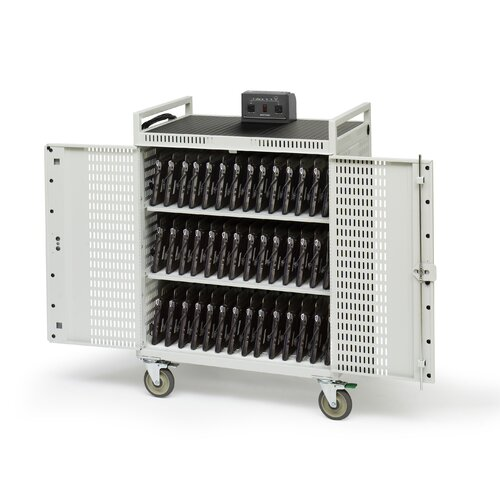 "Bretford Manufacturing Inc 42-Compartment Netbook Cart with 5"" Casters"