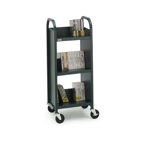 "Bretford Manufacturing Inc Three Shelf Booktruck, 17"" Wide"