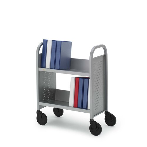 Bretford Manufacturing Inc Contemporary Single-Sided Booktruck with Two Slanted Shelves