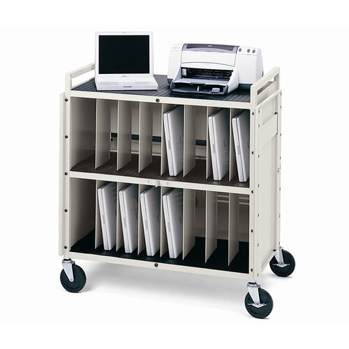 Bretford Manufacturing Inc 16-Compartment LAPT Series Tech-Guard Storage Computer Cart
