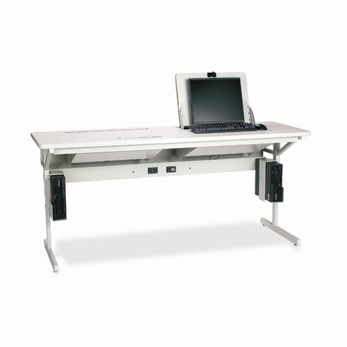 """Bretford Manufacturing Inc Connections SmartDeck 72"""" W x 24"""" D Computer Table"""