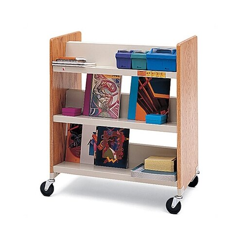Bretford Manufacturing Inc Wood Double-Side Booktruck