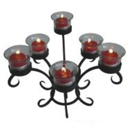 DC America Wrought Iron Table Torchiere Candelabra