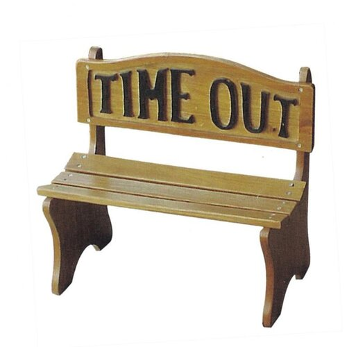 DC America Time Out Wooden Bench
