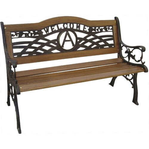 Dc America Monogram Wood And Cast Iron Park Bench