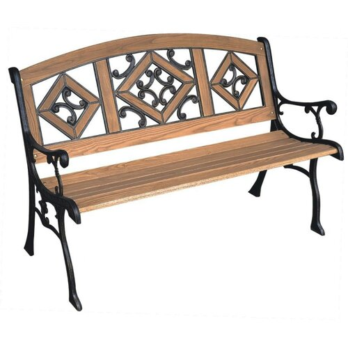 DC America Florence Wood and Cast Iron Park Bench