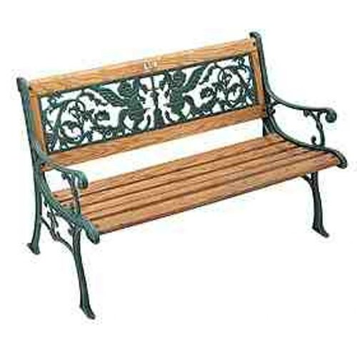 Cherubs Wood And Cast Iron Park Bench Wayfair