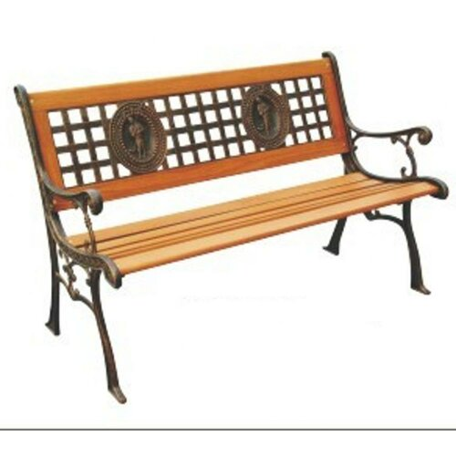 DC America Fisherman Wood and Cast Iron Park Bench