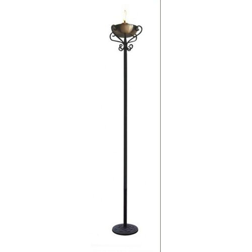 DC America Wrought Iron Torchiere Floor Lamp