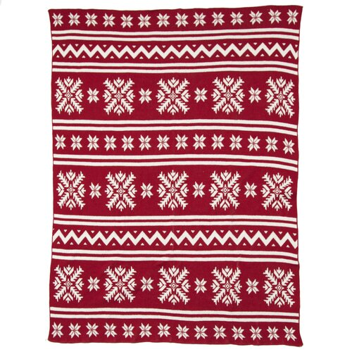 Eco Designer Fair Isle Throw Blanket