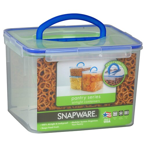 Snapware 29 Cup Large Rectangular Storage Container with Handle