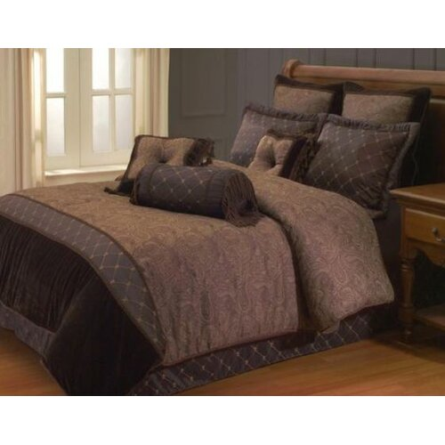 Hallmart Collectibles Opulent Paisley 9 Piece Queen Comforter Set