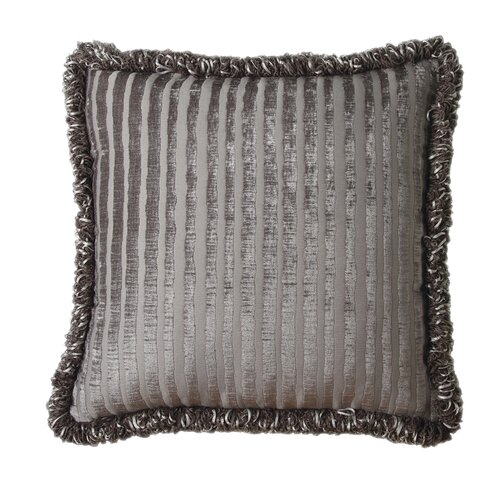 Jennifer Taylor La Rose Synthetic Square Pillow with Tassel Fringe