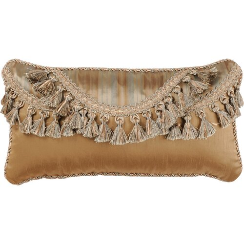 Savannah Synthetic Pillow with Cord and Tassel Trim