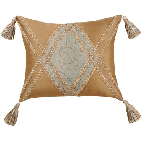 Jennifer Taylor Savannah Synthetic Pillow with Braid and Tassel