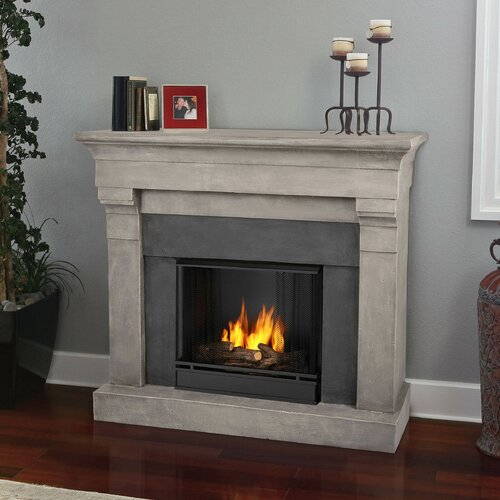 real flame torrence cast mantel gel fuel fireplace